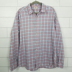 Faherty Men's size XL Pink & Blue Plaid Shirt